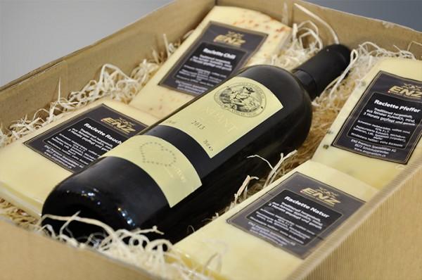 ENZ Raclette Assortiment mit Wein
